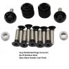 Jeep Windshield Hinge Screw Set Powder Coated Gloss Black