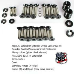 Jeep JK Powder Coated Dress Up Screw Kit